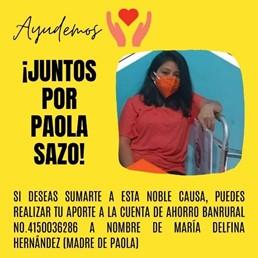 ¡Ayudemos a Paola Sazo!